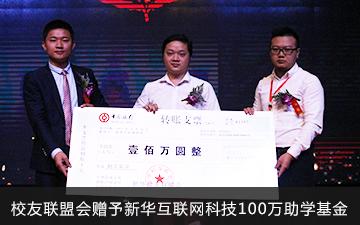 校友联盟会赠予必威官网亚洲体育互联网科技100万助学基金